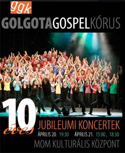 10 éves a Golgota Gospel Kórus koncert