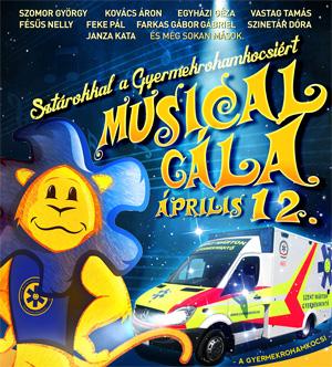 Musical gála sztárokkal a 15 éves Gyermekrohamkocsiért