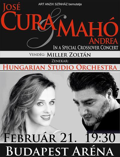 José Cura és Mahó Andrea koncert 2015 - Aréna - Jegyvásárlás