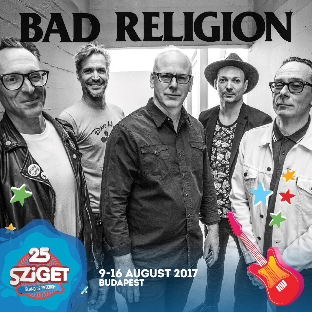 Bad Religion koncert - Sziget Fesztivál 2017