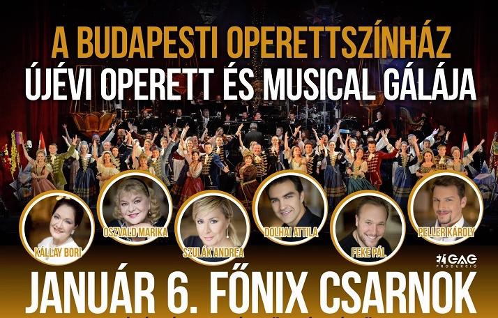 Újévi Musical és Operett gála - Debrecen