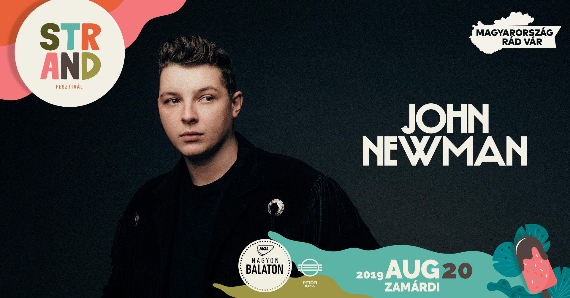 John Newman koncert 2019 - Strand Fesztivál